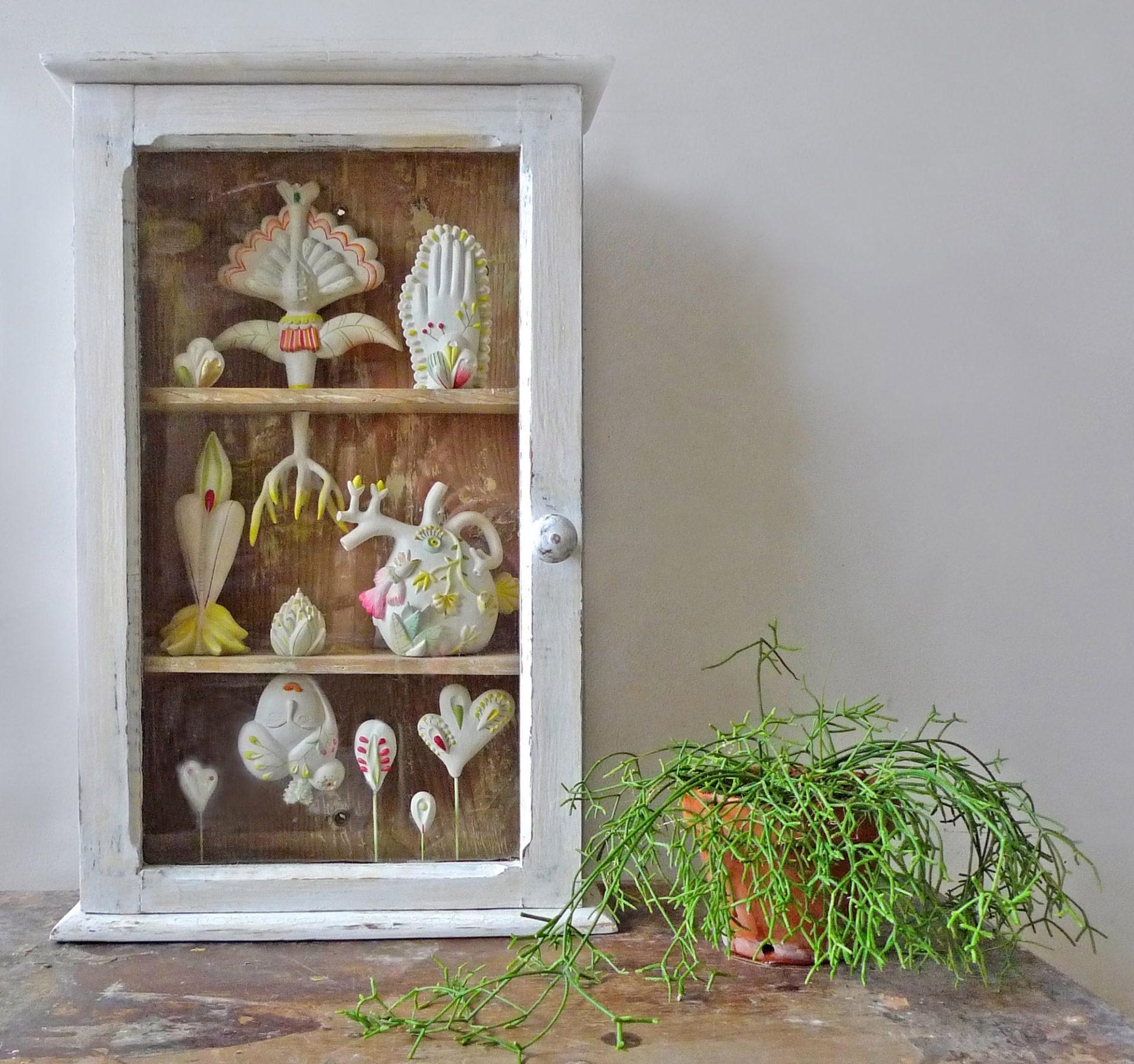 herbeir sculpture cabinets de curiosités contemporains