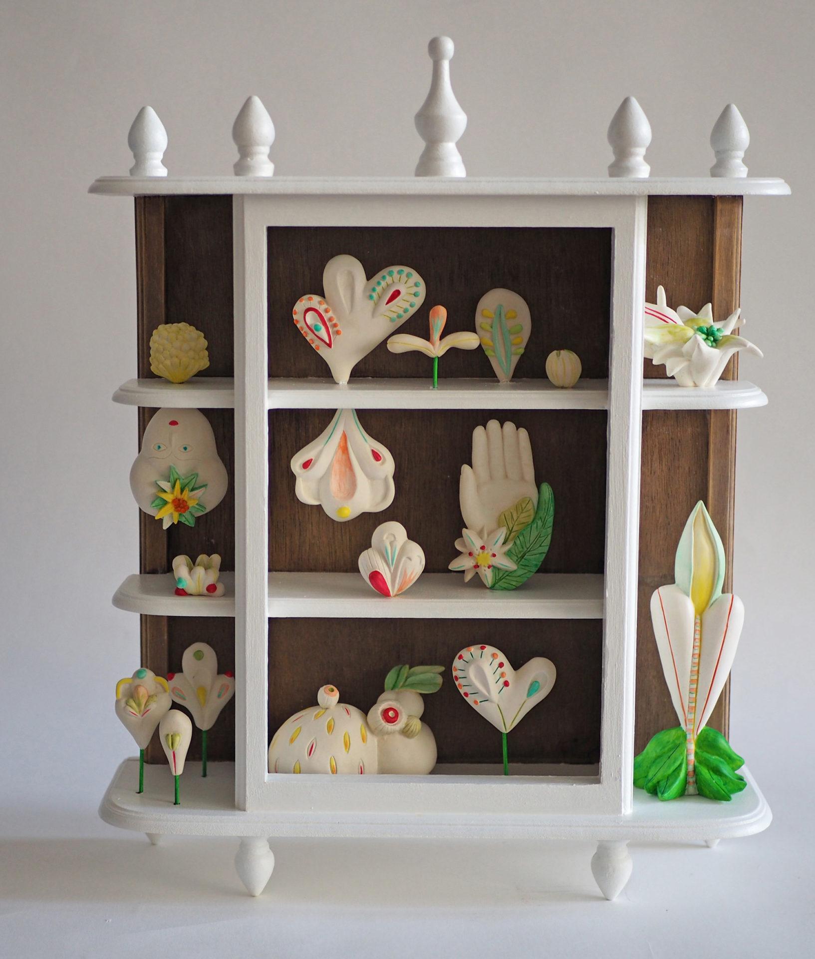herbier sculpture cabinets de curiostés contemporains