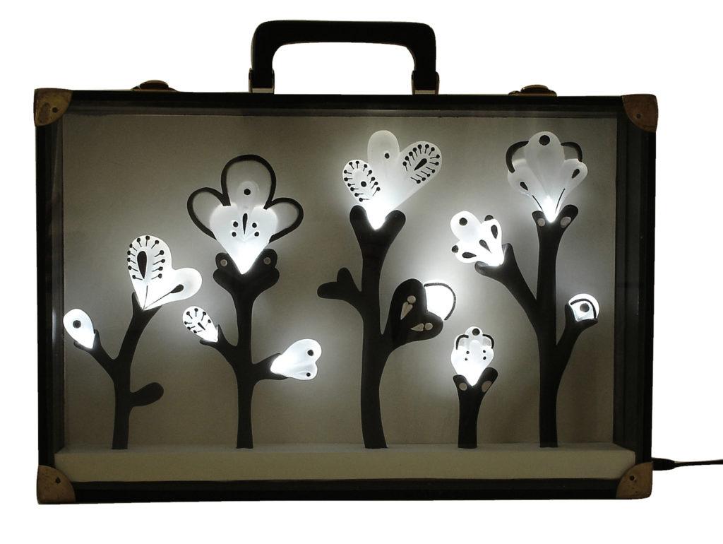 herbier sculpture cabinets de curiosités lumineux