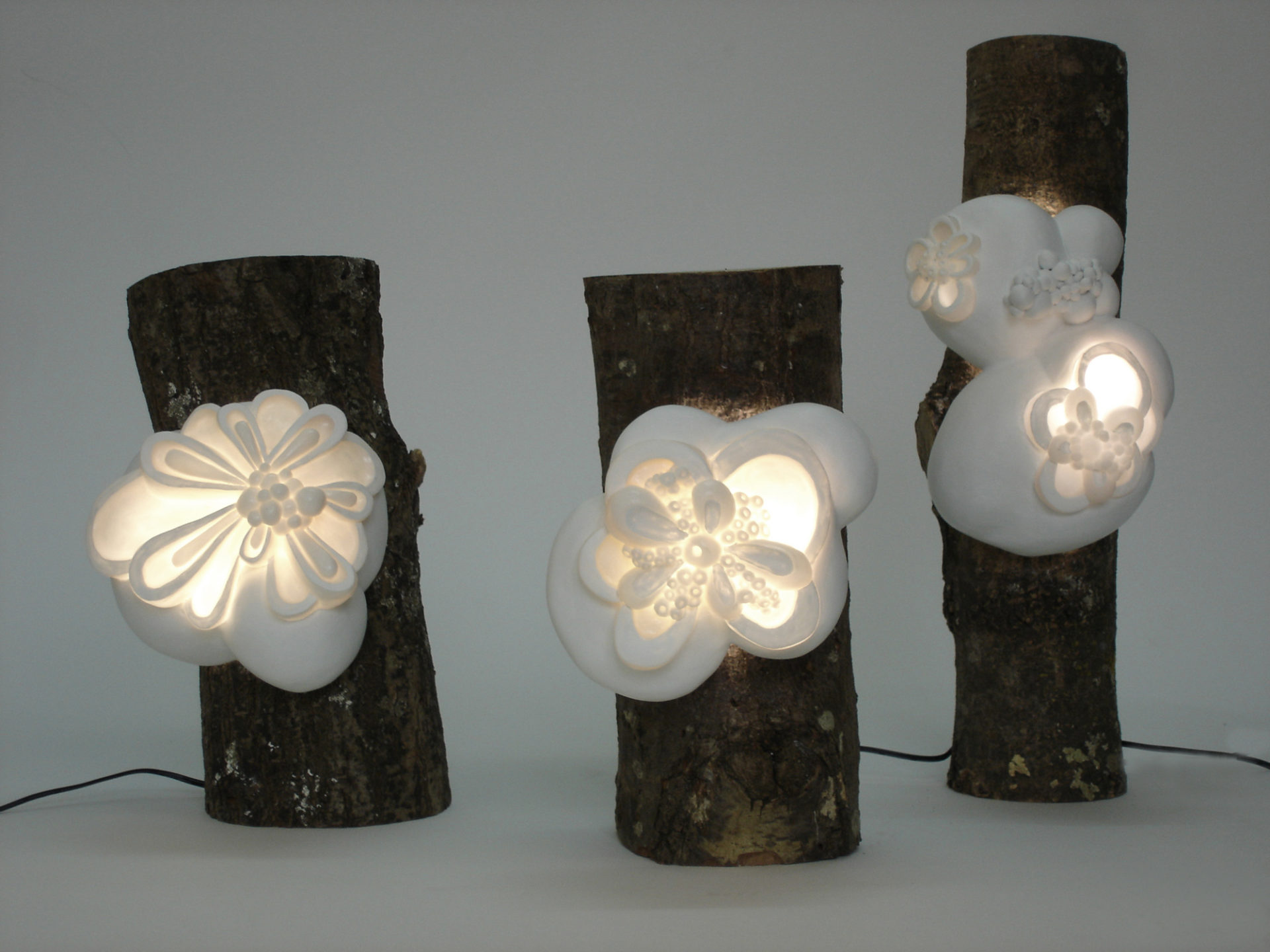 sculptures lumineuses lampes à poser