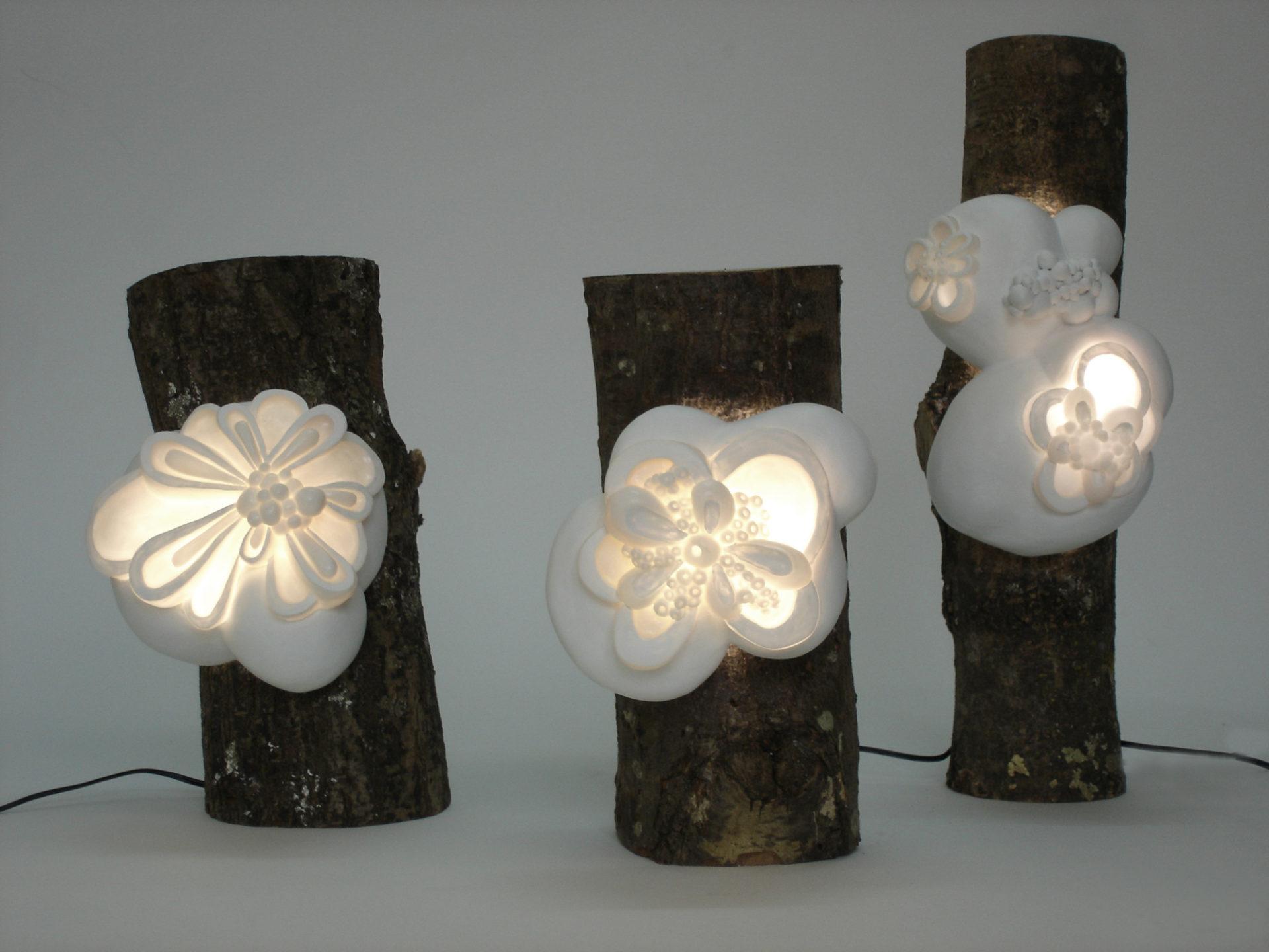 sculptures lumineuses lampes à poser