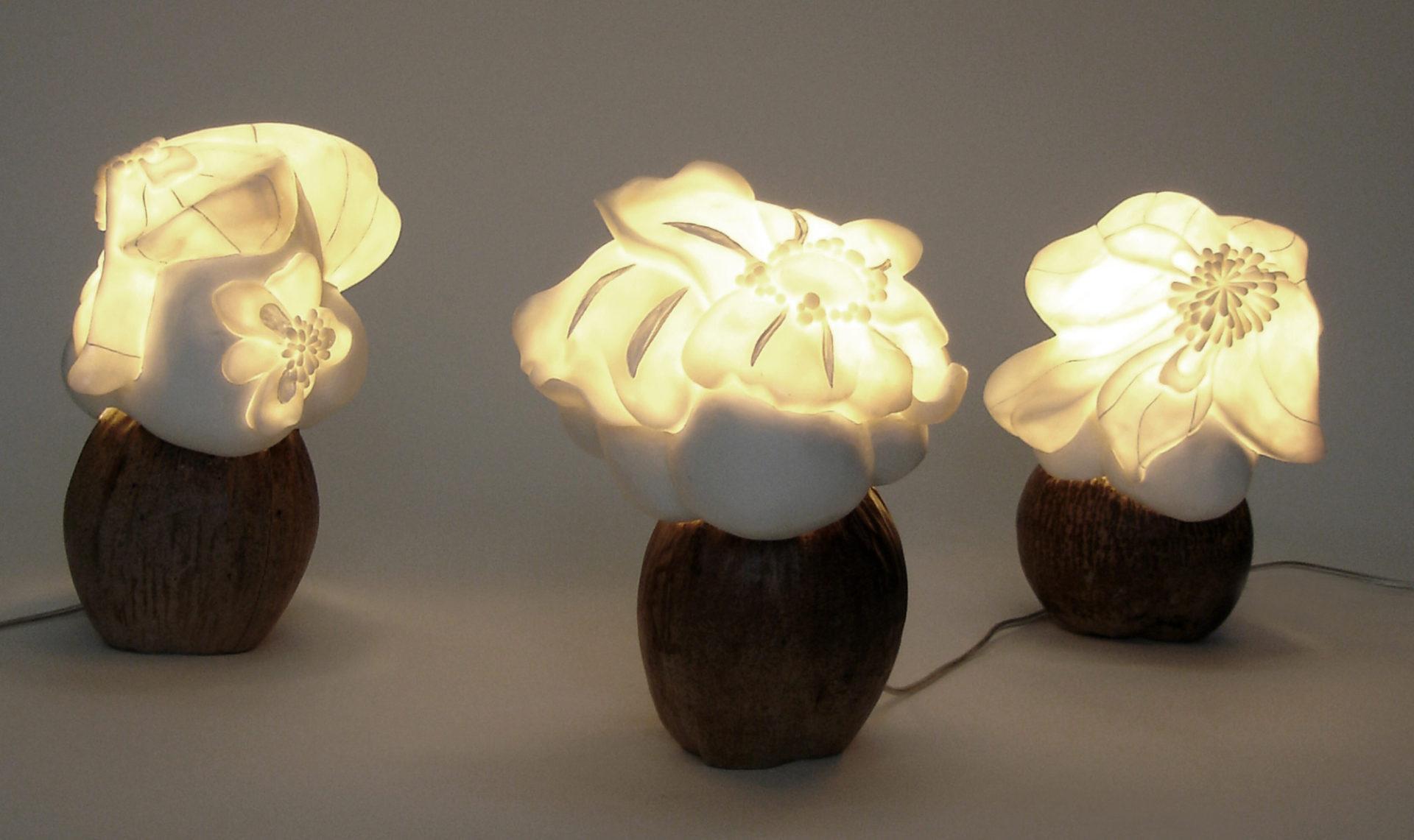 sculptures lumineuses lampe à poser
