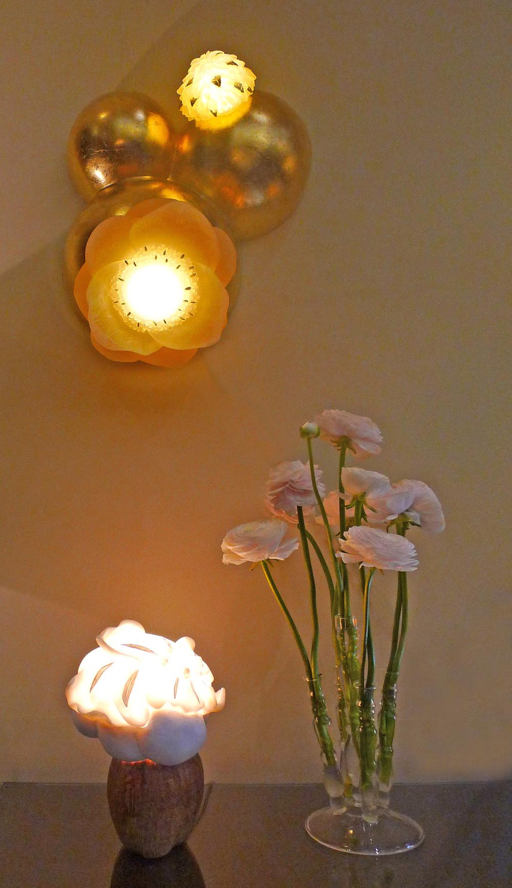 sculptures lumineuses appliques murales lampe à poser