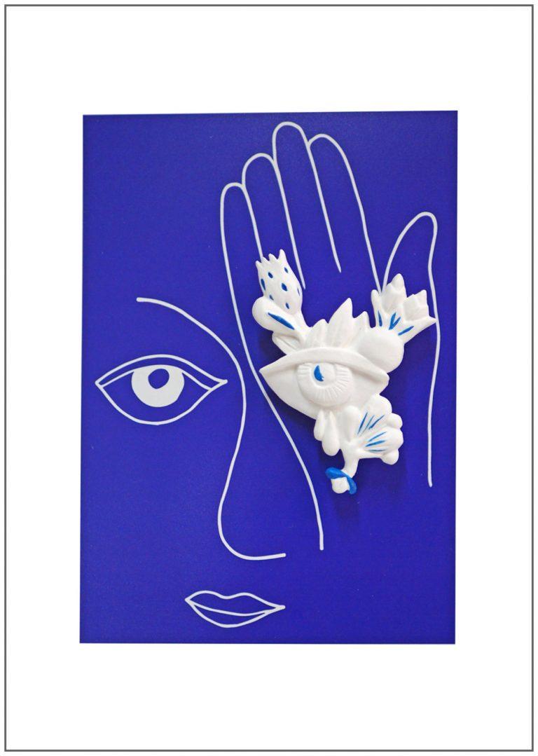 broche bijoux fait main collection Mon oeil bleu