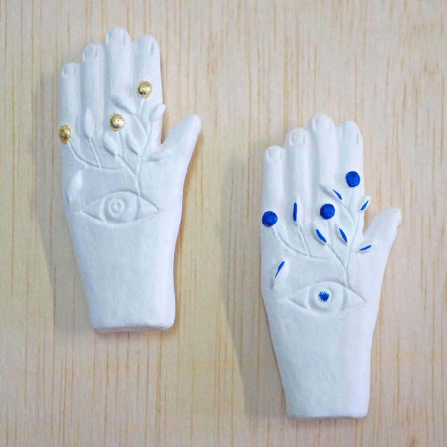 broche bijoux fait main collection Mon oeil main