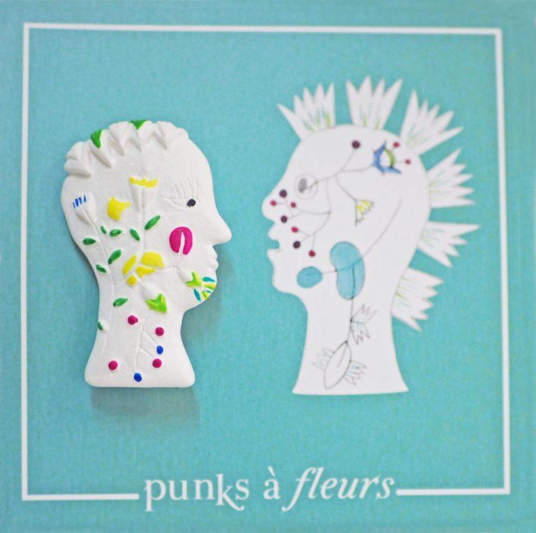 broche bijoux fait main collection Punks à fleurs femme