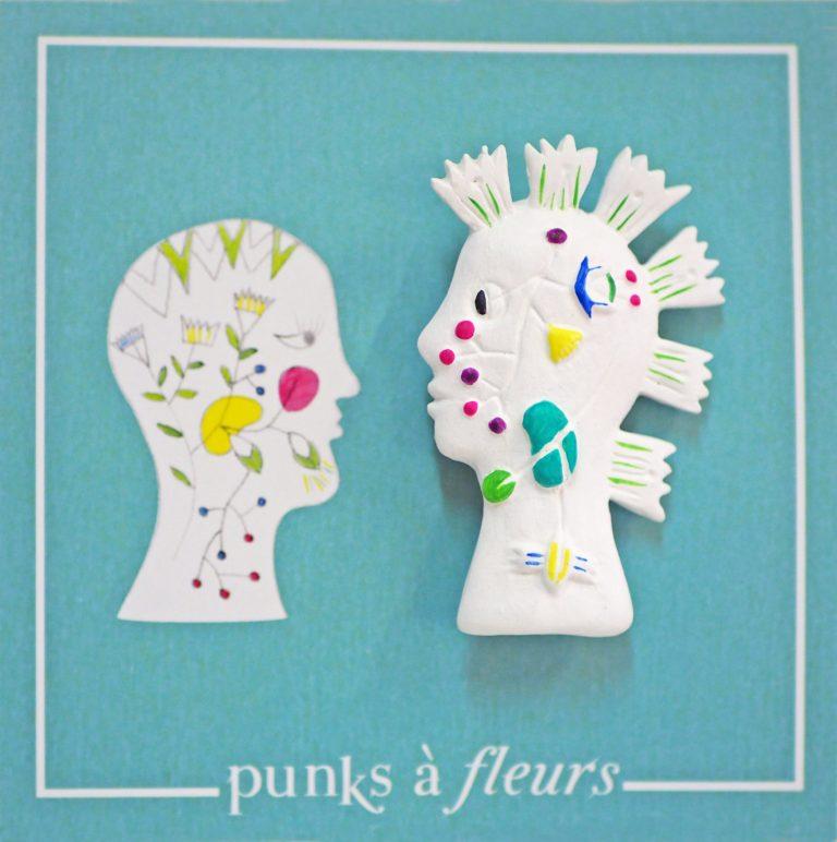 broche bijoux fait main collection Punks à fleurs homme