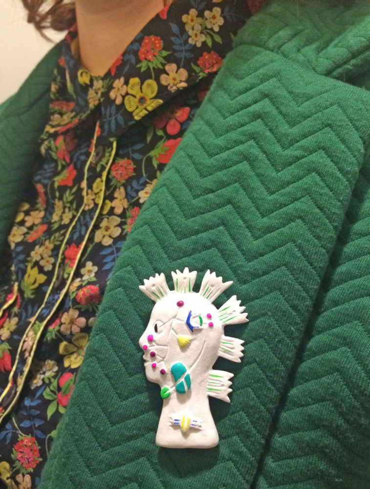 broche bijoux fait main collection Punks à fleurs